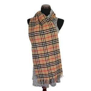 Burberrys of London Cashmere Scarf Brown